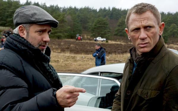 Director Sam Mendes and Daniel Craig on the set of Metro-Goldwyn-Mayer Pictures/Columbia Pictures/EON Productions? action adventure SKYFALL.