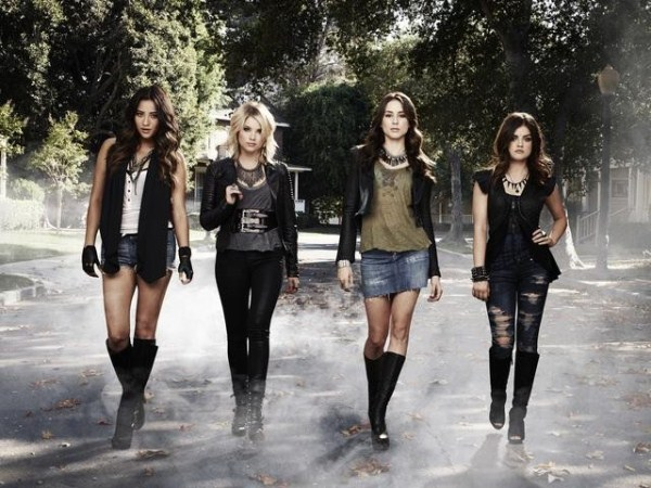 """PRETTY LITTLE LIARS - ABC Family's """"Pretty Little Liars"""" stars Shay Mitchell as Emily Fields, Ashley Benson as Hanna Marin, Troian Bellisario as Spencer Hastings and Lucy Hale as Aria Montgomery. (ABC FAMILY/ANDREW ECCLES)"""